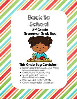 Back to School 2nd Grade Grammar Grab Bag
