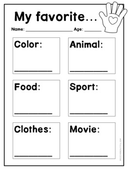 Back to School: Three Bilingual All About Me Activities in Eng/Spanish {Low Ink}