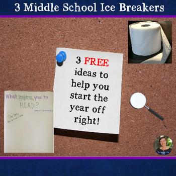Back to School:  3 Middle School Ice Breakers