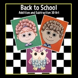 Back to School 3D Addition and Subtraction Art