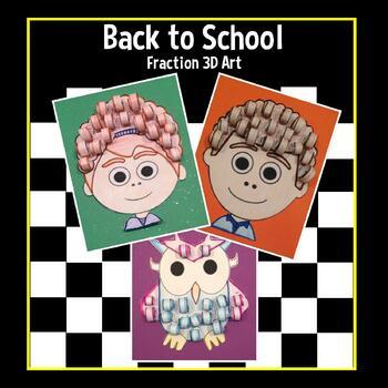 Back to School 3D Fraction Art