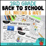Back to School 3rd Grade | First Week of School