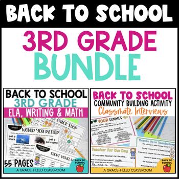 Back to School: 3rd Grade Bundle