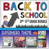 Back to School 3rd Grade Superheroes mega resource