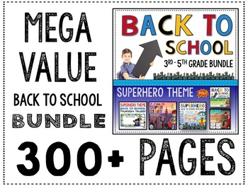 Back to School 3rd Grade Superheroes mega resource