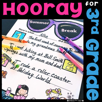 Back to School 3rd Grade (First Week /Day 3 Activities) Writing, Math, Word Work