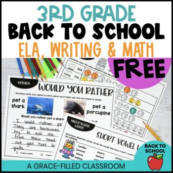Back to School: 3rd Grade FREEBIE