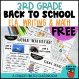 Back to School 3rd Grade Printables FREE
