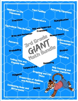 3rd Grade Giant Math Bundle: Centers, Activities, Assessments, and MORE!