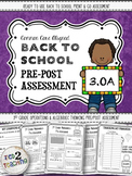 Back to School 3rd Grade Math CCSS Pre/Post Assessment (OPERATIONS & ALGEBRA)