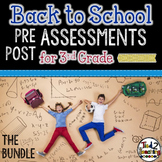 Back to School 3rd Grade Math CCSS Pre/Post Assessments