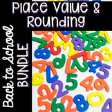 3rd Grade Math Centers - Place Value and Rounding Bundle - Back to School