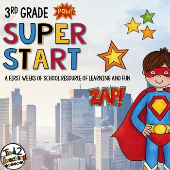 Back to School 3rd Grade Superhero Pack