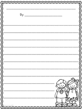 Back to School 4-Square Writing Organizers & Papers for Beginning Writers *FREE*