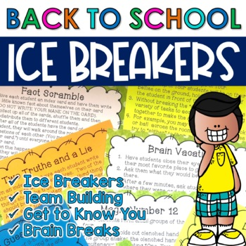 Back to School: Ice Breakers and Team Building Activities