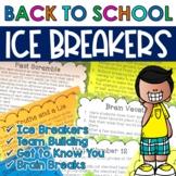Back to School Ice Breakers and Team Building Activities