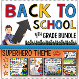Back to School 4th Grade Superheroes mega resource