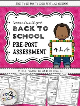 Back to School 4th Grade Language CCSS Pre/Post Assessment