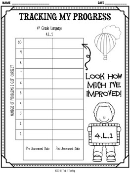 Back to School 4th Grade Language CCSS Pre/Post Assessment BIG BUNDLE! (5 TESTS)