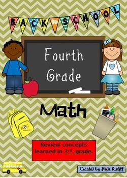 Back to School 4th Grade Math