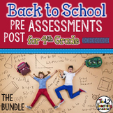 Back to School 4th Grade Math CCSS Pre/Post Assessments