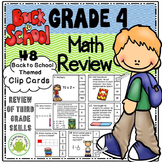 Back to School 4th Grade Math Review Clip Cards
