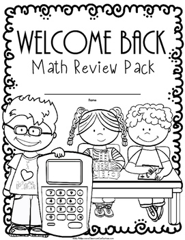 Back to School Math Worksheets: 4th Grade Back To School Math Review Activities