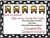 Back to School 5-10 Subtraction Dry Erase Cards
