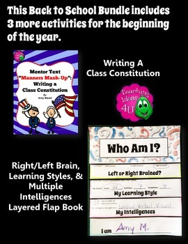 Back to School 5 Icebreakers & Activities Bundle Class Rules Learning Styles+