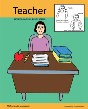 Back to School: 5 Senses, Teacher Sign Language Lesson Plans