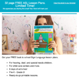 Back to School: 5 Senses, Teacher Sign Language Lesson Plans