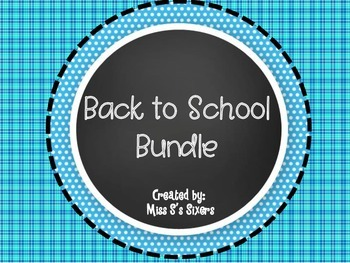 Back to School 50 Page Bundle