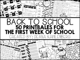 Back to School {50 Printables & Activities for the First W
