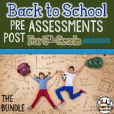 Back to School 5th Grade Math CCSS Pre/Post Assessments BUNDLE! (5!)