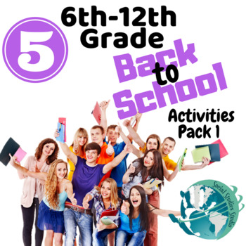 Back to School 6th-12th Grade No Prep Activities Pack 1