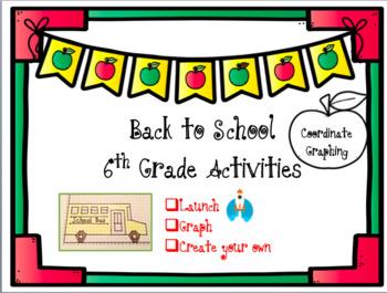 Back to School 6th Grade Activities