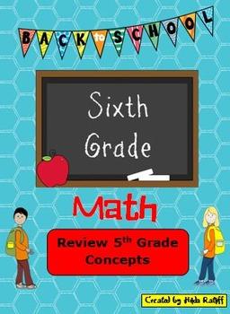 Back to School 6th Grade Math