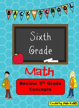 Back to School 6th Grade Math