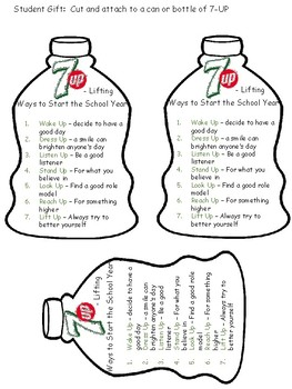 Back to School 7Up Gift Tag