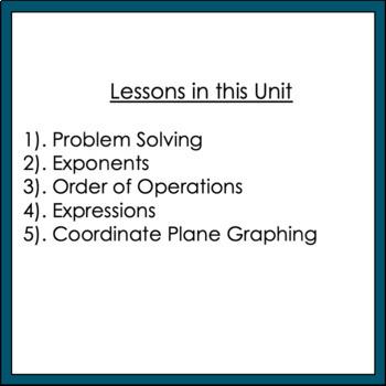 Back to School 7th Grade Math Unit