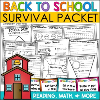 First Week of School Survival Packet - Printables, Pennants, Icebreakers, More!