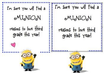 Back to School - A Minion Reasons