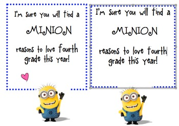Back to School - A Minion Reasons
