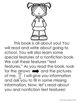 Back to School: An Interactive Nonfiction Text Feature Book Gr. K&1