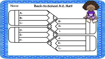 Back to School - A-Z Hunt