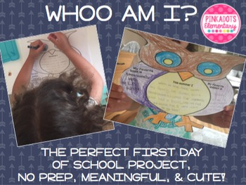 Back to School: A great getting to know you writing activity, Whooo Am I?