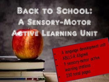 Units for Early Learners with Autism: Back to School