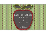 Back to School ABC & 123
