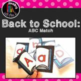 Back to School ABC Alphabet Match cards