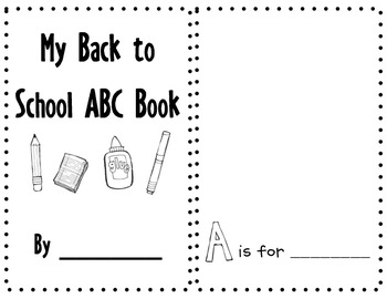 Back to School ABC Book